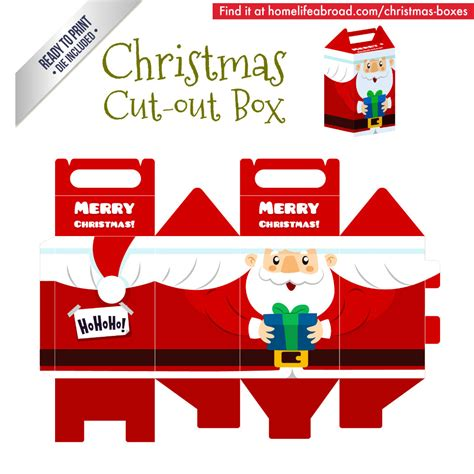 templates for christmas boxes christmas santa cut out box with ready to print
