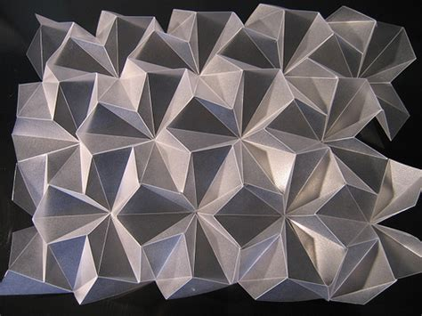 3d origami tessellation tutorial folded frosted polypropylene 200 micron by polyscene via