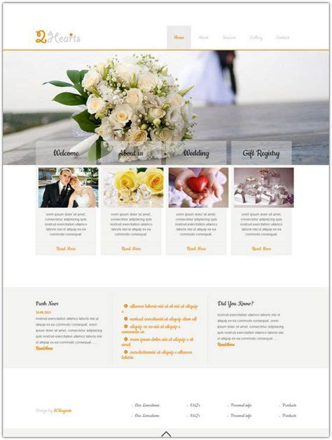 Free Wedding Html Templates 10 free wedding html5 css3 templates web resources free