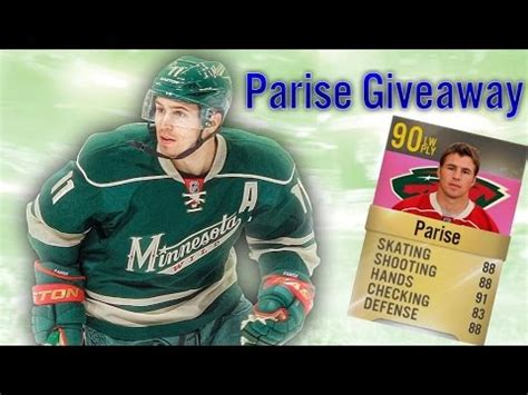 Nhl Giveaway Stats - nhl 15 hut zach parise 90 overall giveaway youtube