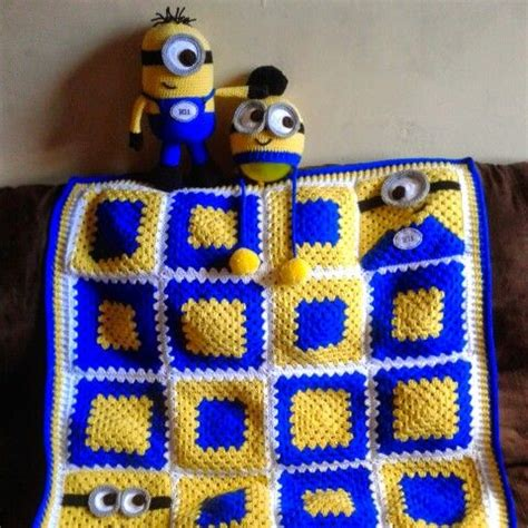 free crochet pattern minion crochet afghan square make minion granny square pattern blanket pinterest best ideas