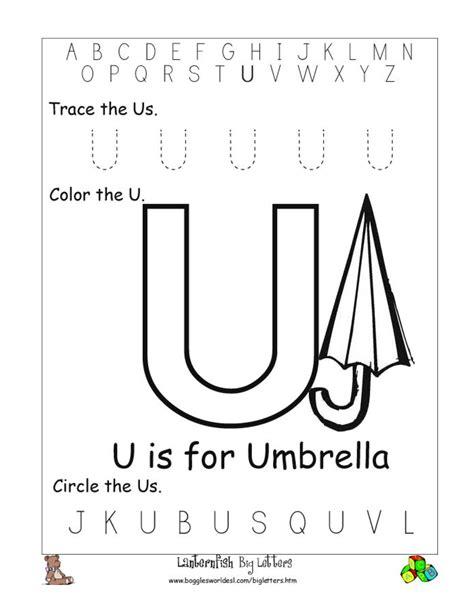Letter U Worksheets by 8 Best Images Of Letter U Kindergarten Printables Letter