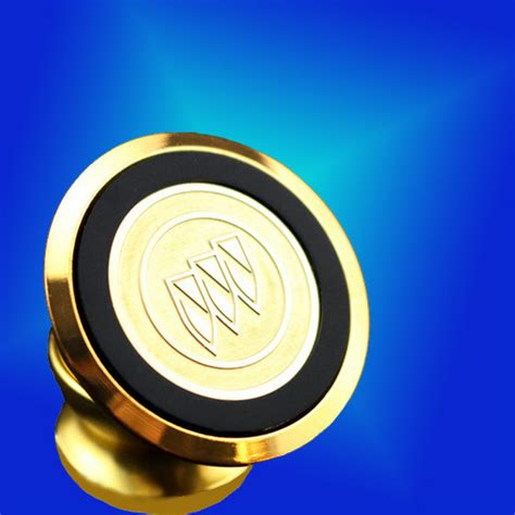 Car Holder Magnet Rotary Logo Mobil 24k metal surface carving car logo 360 degree rotating magnetic mobile phone holder support
