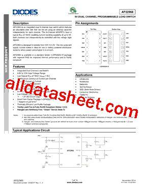 datasheet of diode ap22966dc8 7 datasheet pdf diodes incorporated