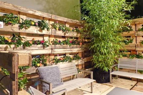 kleingarten ideen sichtschutz aus paletten gute ideen