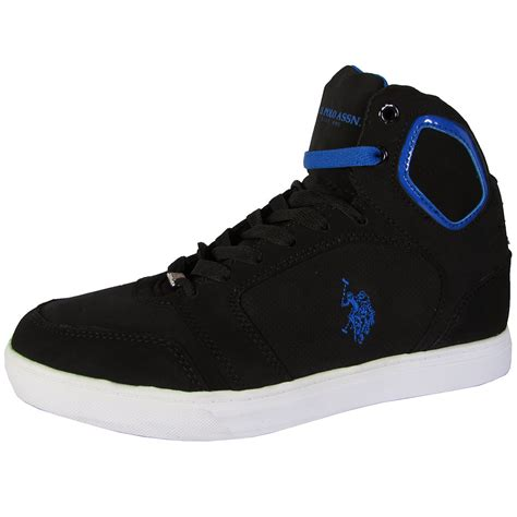 us polo sneakers u s polo assn mens supe p high top sneaker shoes ebay