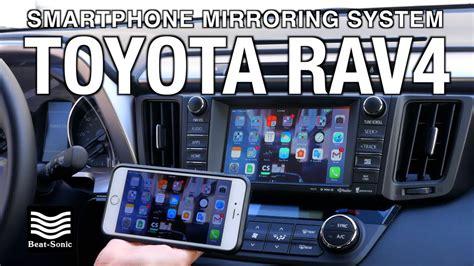 demonstration   toyota rav smartphone mirroring