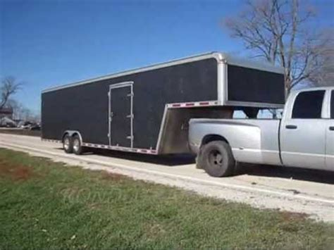 enclosed gooseneck trailer race car hauler