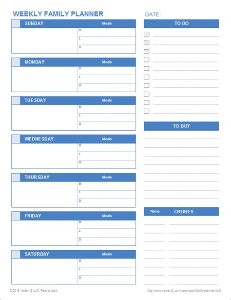 printable daily planner vertex printable family planner templates for excel