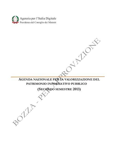 agenda consiglio dei ministri agenda nazionale per la valorizzazione patrimonio