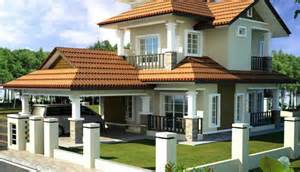 Bungalows Design Ideas Double Storey Bungalow House With Plan Home Design