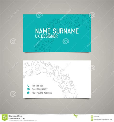Simple Business Card Website Template by Modern Simple Business Card Template For Ux Designer Stock