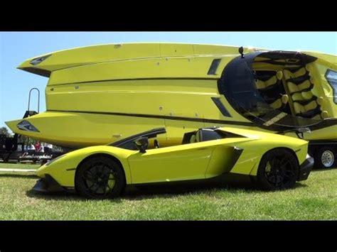 lamborghini aventador superveloce boat crazy yellow lamborghini aventador lp 720 4 1 3 million