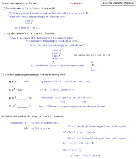 Factoring Polynomials Worksheet With Answers by Factoring Trinomials A Greater Than 1 Worksheet Answers