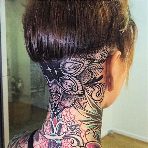 number 34 tattoo on back neck 45 back of the neck tattoo designs meanings way to the