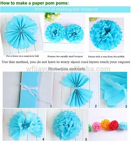How To Make A Tissue Paper Pom Pom - fashion decoration hanging tissue pom poms tissue paper