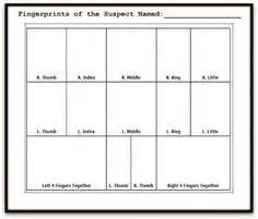 Fingerprint Card Template Spys On Pinterest Spy Party Detective Party And Spy
