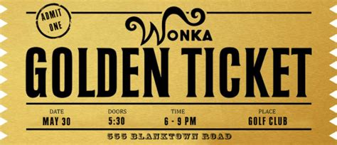 Golden Ticket Templates Find Word Templates Free Golden Ticket Template Editable