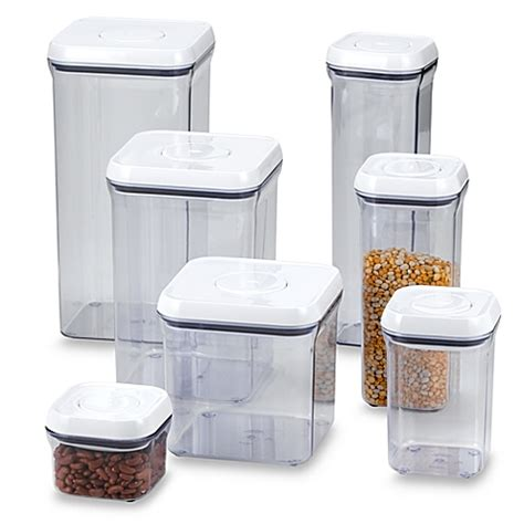 bed bath and beyond storage containers oxo good grips 174 square food storage pop containers bed bath beyond