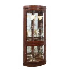 Corner Curio Cabinet For Kitchen Pulaski Chocolate Cherry Curved Corner Curio Cabinet
