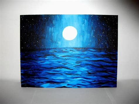 Moonlit Intresse moonlight waters acrylic painting https www etsy