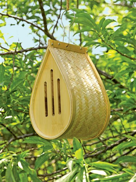 butterfly houses butterfly house in woven bamboo gardener s supply