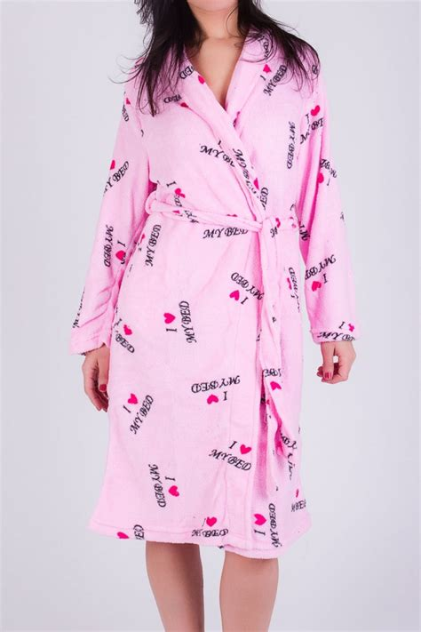 i love my bed quot i love my bed quot plush robe 4016bd sleepwear