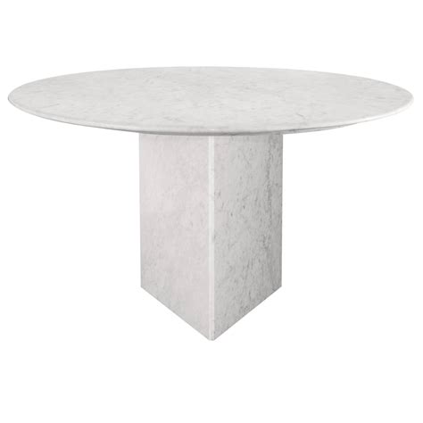 Marble Base Dining Table Carrara Marble Dining Table And Base At 1stdibs