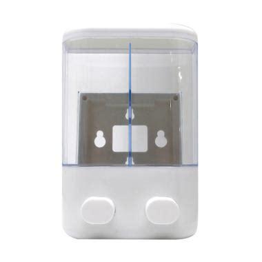 Dispenser Sabun 2 Tabung Untuk Tempat Shoo Sabun Mandi jual mos dispenser sabun shoo 2 tabung harga kualitas terjamin blibli