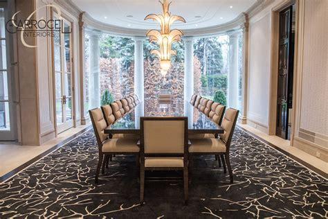 grand dining room custom made makassar ebony art deco style grand dining