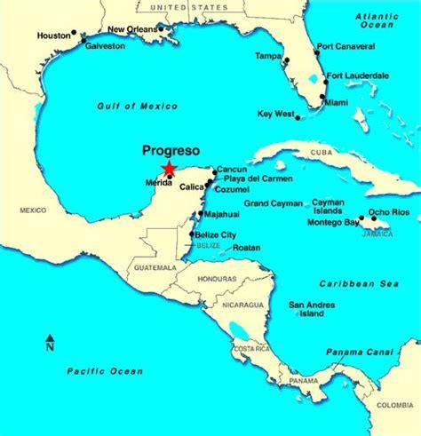 progreso mexico map progreso yucatan mexico cruise port map progreso