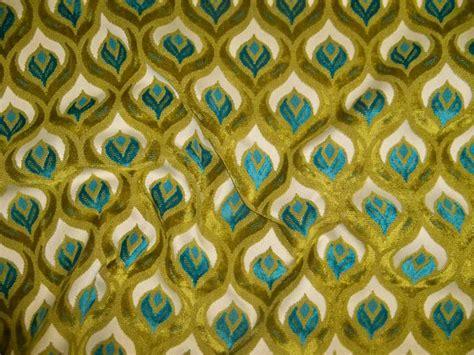 peacock velvet upholstery fabric koplavitch peacock cut velvet fabric 10 yards cream