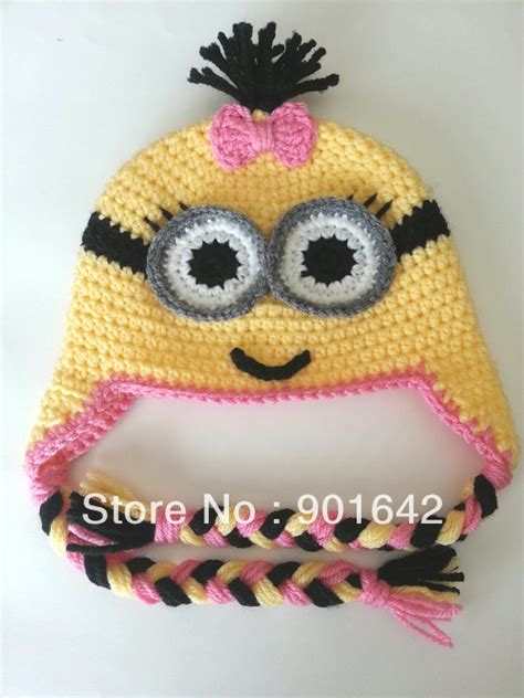 Karakter Top Knit crochet minion hat werbeaktion shop f 252 r werbeaktion