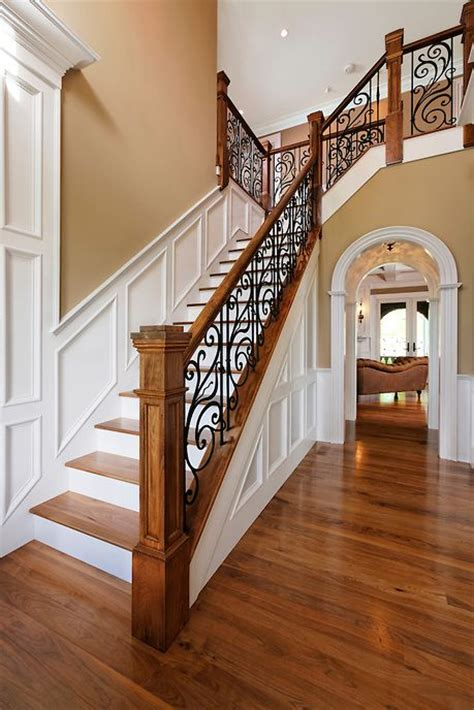 traditional staircases 33 wrought iron railing ideas for indoors and outdoors