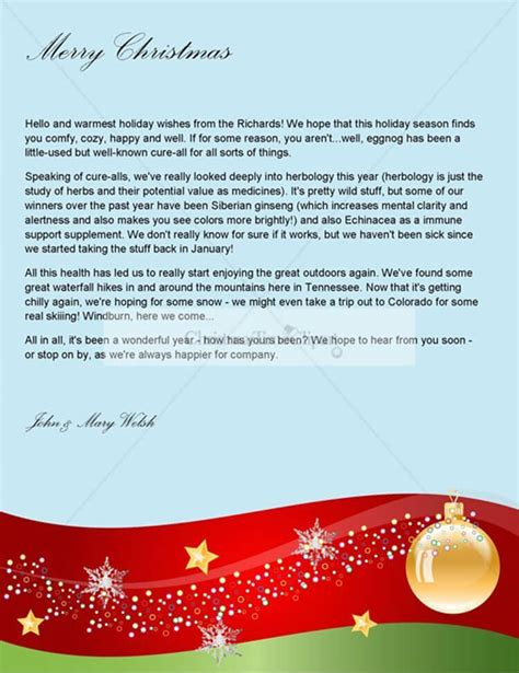 christmas letter templates free psd pdf format