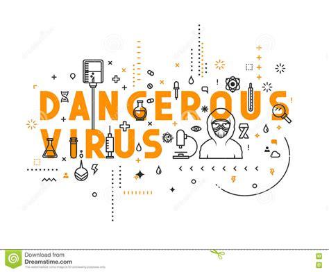 design concept words design concept dangerous virus stock vector image 73217109