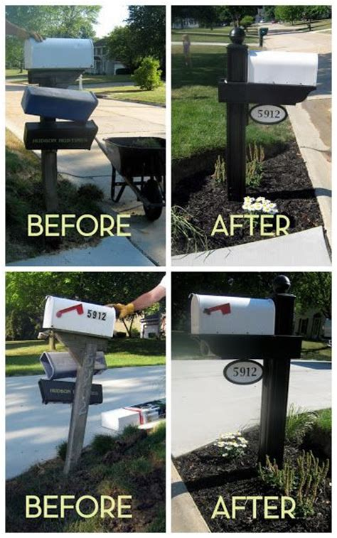 curb appeal mailbox curb appeal mailbox makeover and home made on