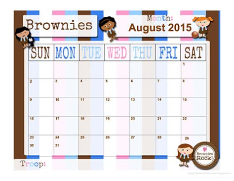 fashionable moms girl scouts daisies free calendar