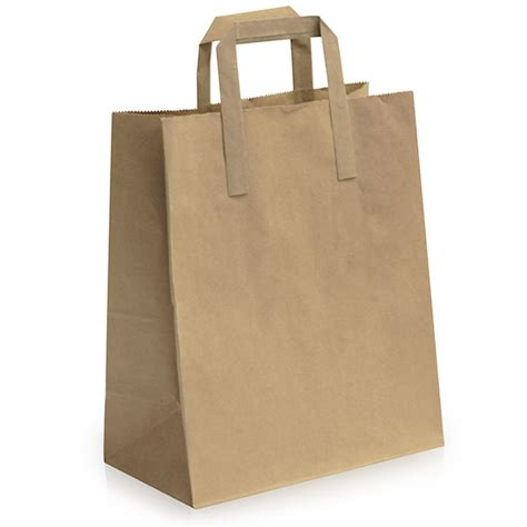 Take Away Box Bag From Os by Recycled Brown Bags With Flat Handles Take Away Bags