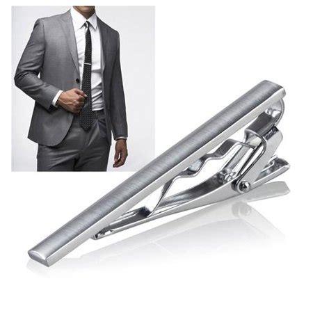 Neck Tie Clip zodaca menswear gentleman silver metal simple necktie tie