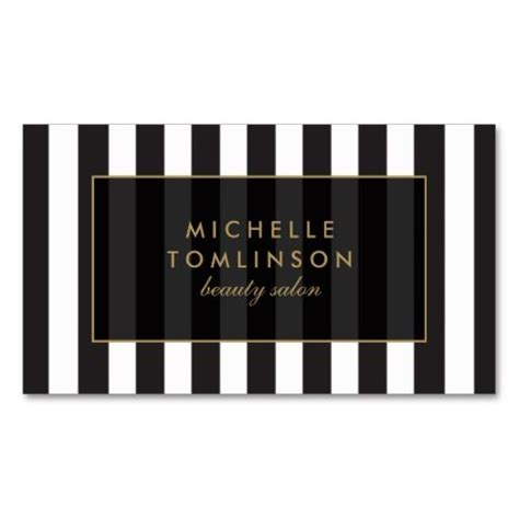 Black And White Name Card Template by Black And White Stripes Salon Iii Business Card Click