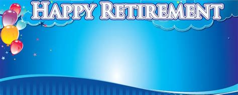 backdrop design for retirement retirement personalised banners partyrama