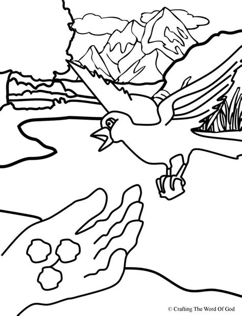 coloring page for elijah and the ravens elijah fed by ravens coloring page 171 crafting the word of god