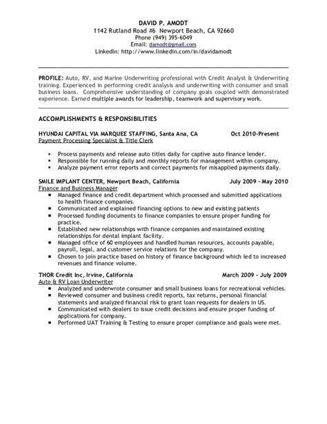 insurance underwriting resume 28 images commercial
