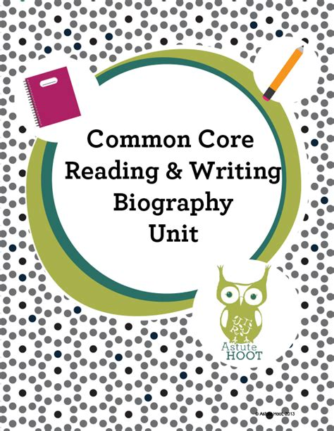 biography and autobiography unit biography unit common core reading and writing k 1st