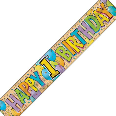 Banner Happy Birthday 1 banner happy 1 st birthday 3 6 m