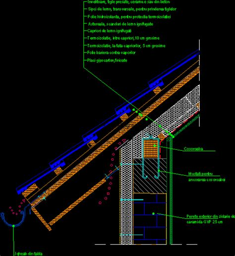 cornisa francesa detail of attic eaves in autocad download cad free 80