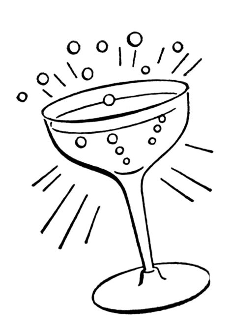 cocktail clipart black and white retro line drawings cocktail glass the graphics fairy