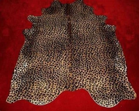 leopard cowhide rug standard leopard print cowhide rug on - Leopard Print Cowhide