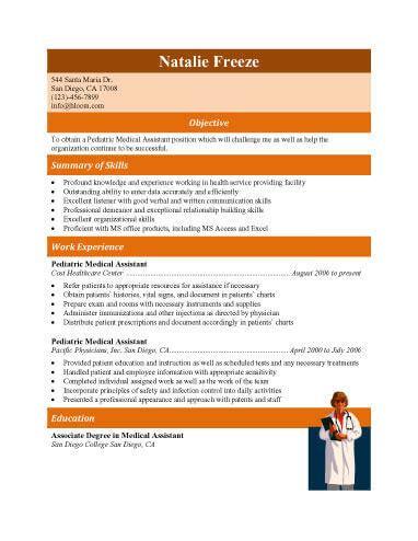 medical assistant job description resume medical assistant resumes